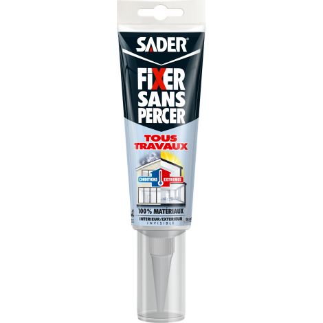 30611729_Sader Fixer Sans Percer Tous Travaux - Invisible 125 ml