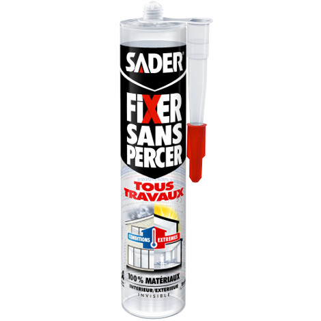 30609423_Mastic de Fixation Fixer Sans Percer Tous Travaux - Invisible 290 ml